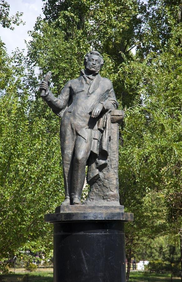 Monument d'Alexander Pushkin image libre de droits