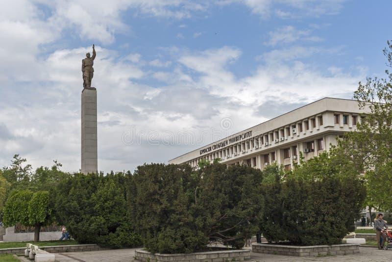Monument d'Alyosha au centre de la ville de Burgas, Bulgarie image libre de droits