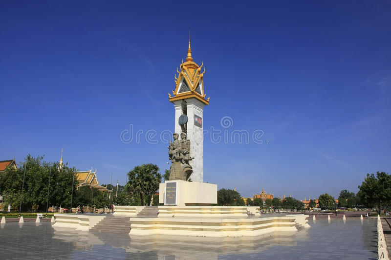 Monument d'amitié du Cambodge-Vietnam, Phnom Penh, Cambodge photo stock