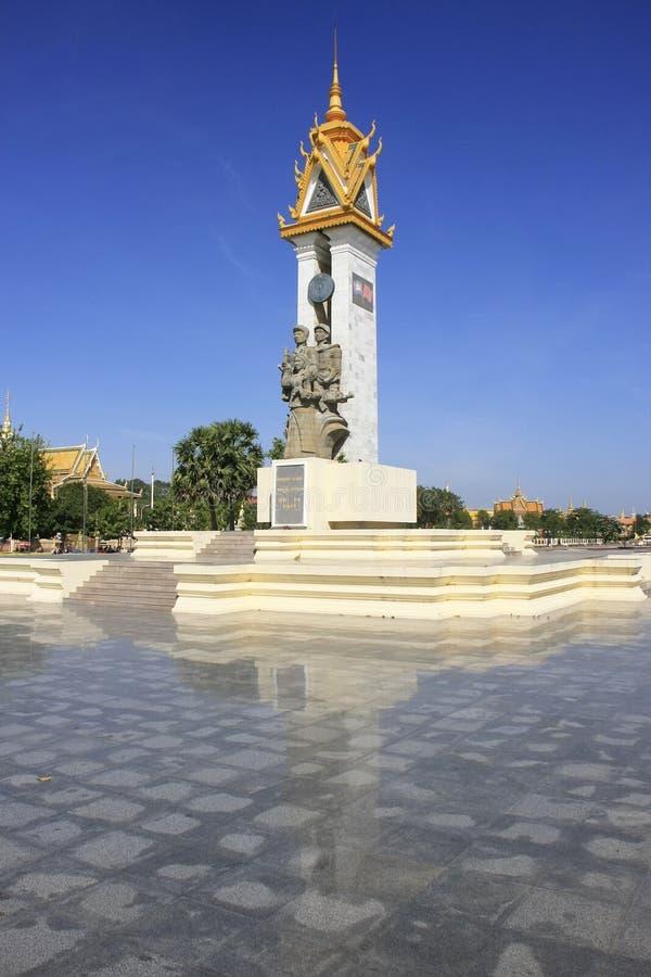 Monument d'amitié du Cambodge-Vietnam, Phnom Penh, Cambodge image stock
