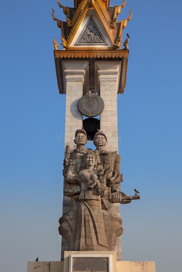 Monument d'amitié du Cambodge-Vietnam, Phnom Penh, Cambodge. photo libre de droits