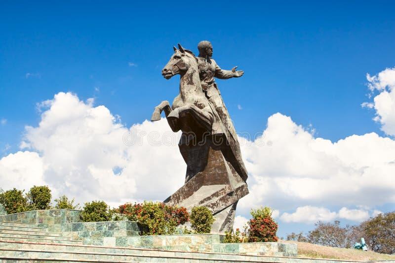 Monument d'Antonio Maceo sur le grand dos de révolution photo libre de droits