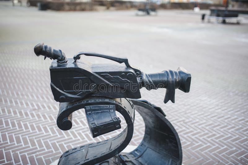 Monument d'appareil-photo de film images stock