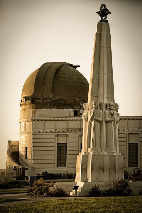 Monument d'astronomes en Griffith Park image stock