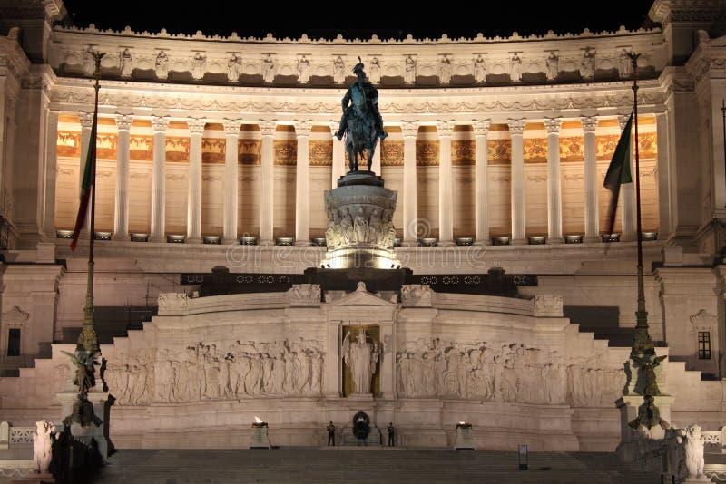 Monument d'Emmanuel II de vainqueur photo libre de droits
