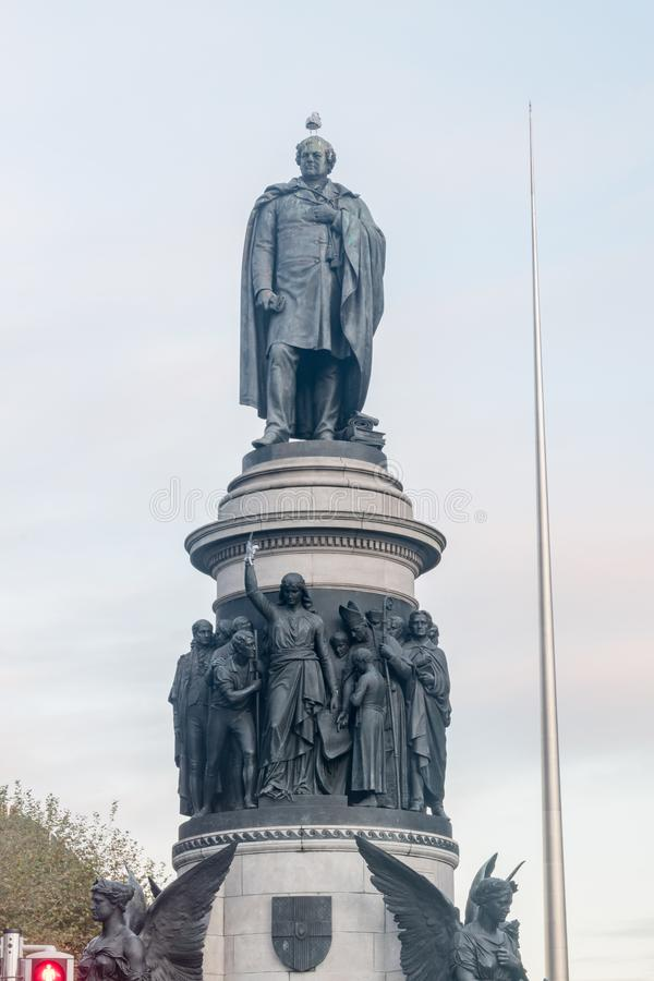 Monument of Daniel O'Connell in Dublin, Ierland royalty-vrije stock foto