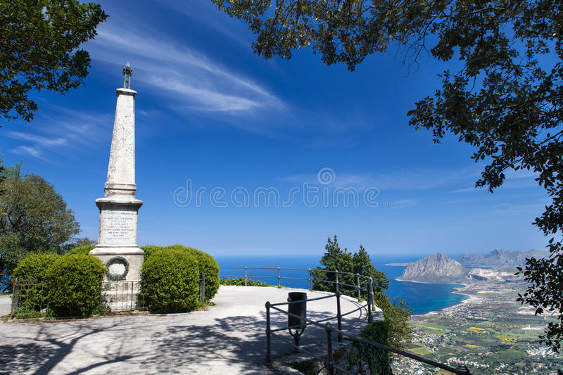 Monument dans Erice, Sicile photo stock