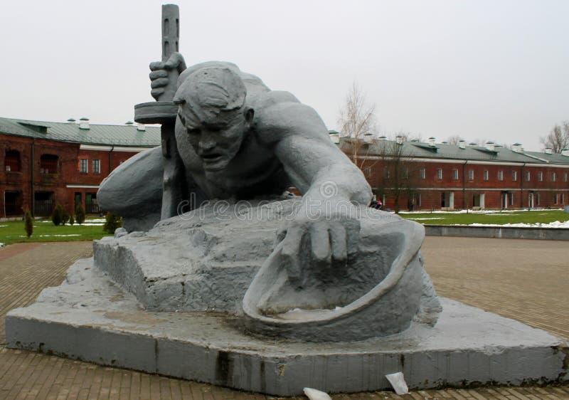 Monument dans la forteresse de Brest image stock
