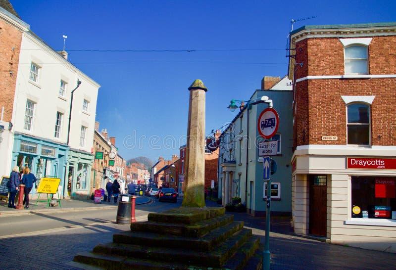 Monument dans la rue croisée Cheadle image libre de droits