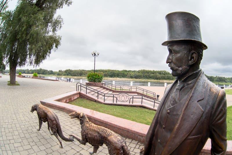 Monument dans la ville de Gomel image stock