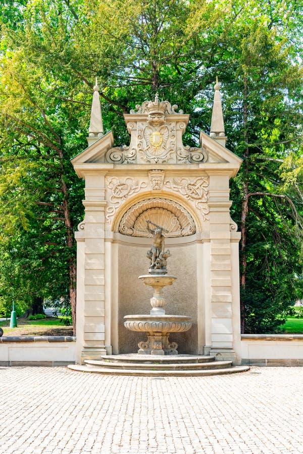 Monument dans le jardin royal près du château de Prague, République tchèque photographie stock
