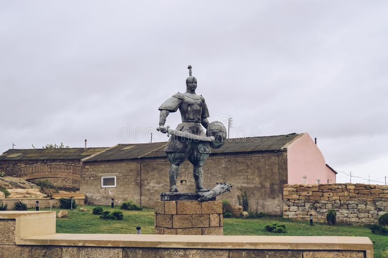 Monument dans le musée historique de gala et ethnographique en plein air photographie stock