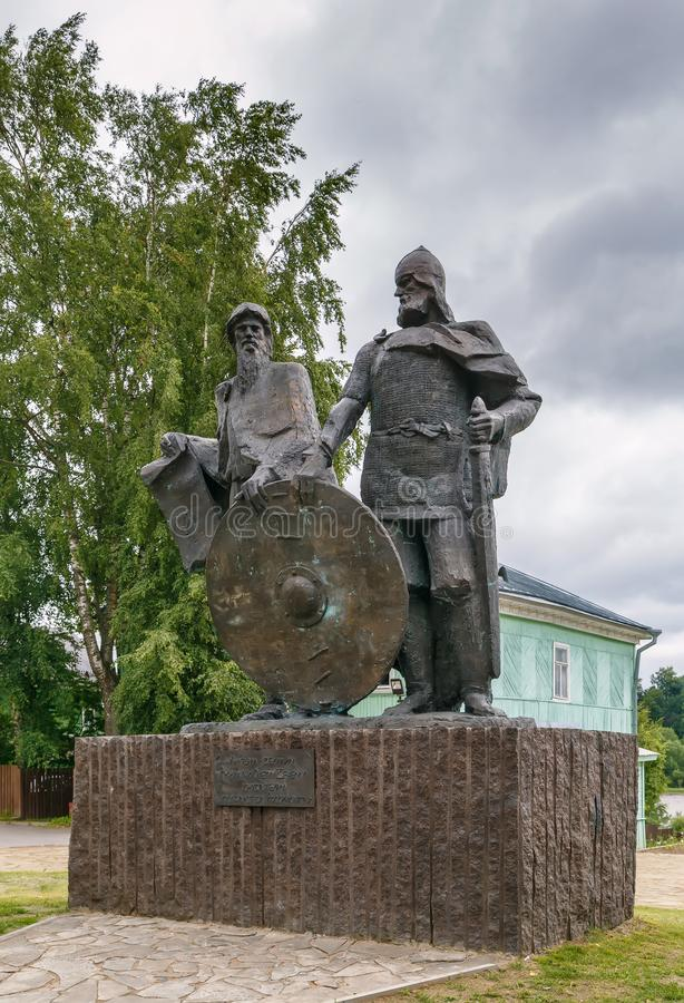 Monument dans Staraya Ladoga, Russie images stock