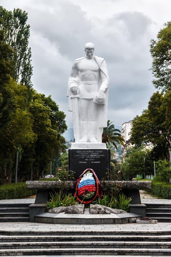 Monument dans une ville de Soukhoumi images libres de droits
