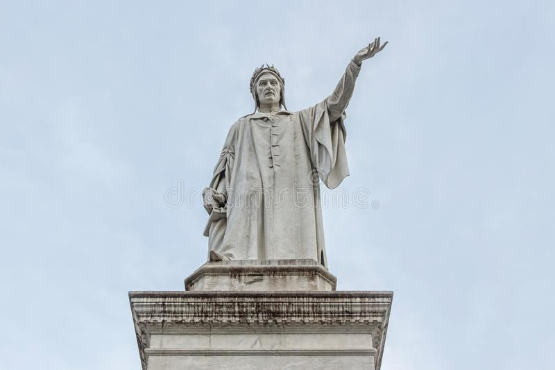 Monument of Dante in Naples. Monument of Dante at Piazza Dante in Naples stock images