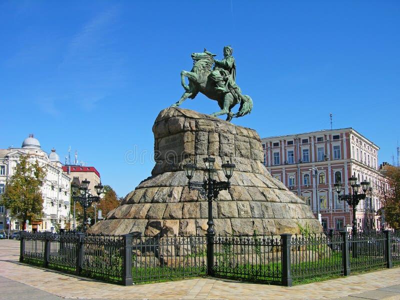 Monument de Bogdan Khmelnitsky, Kiev, Ukraine photographie stock