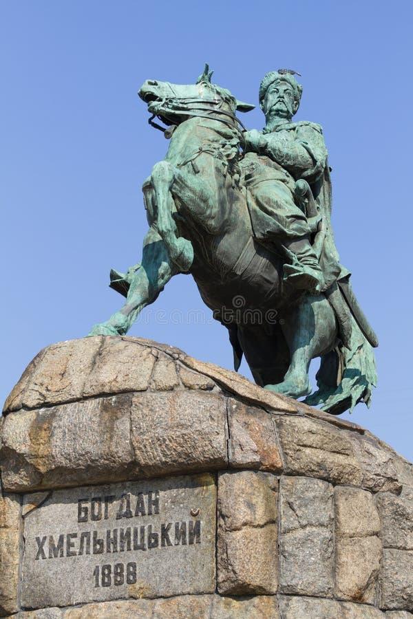 Monument de Bogdan Khmelnytsky à Kiev photos stock