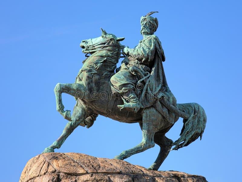 Monument de Bohdan Khmelnytsky à Kiev, Ukraine images stock