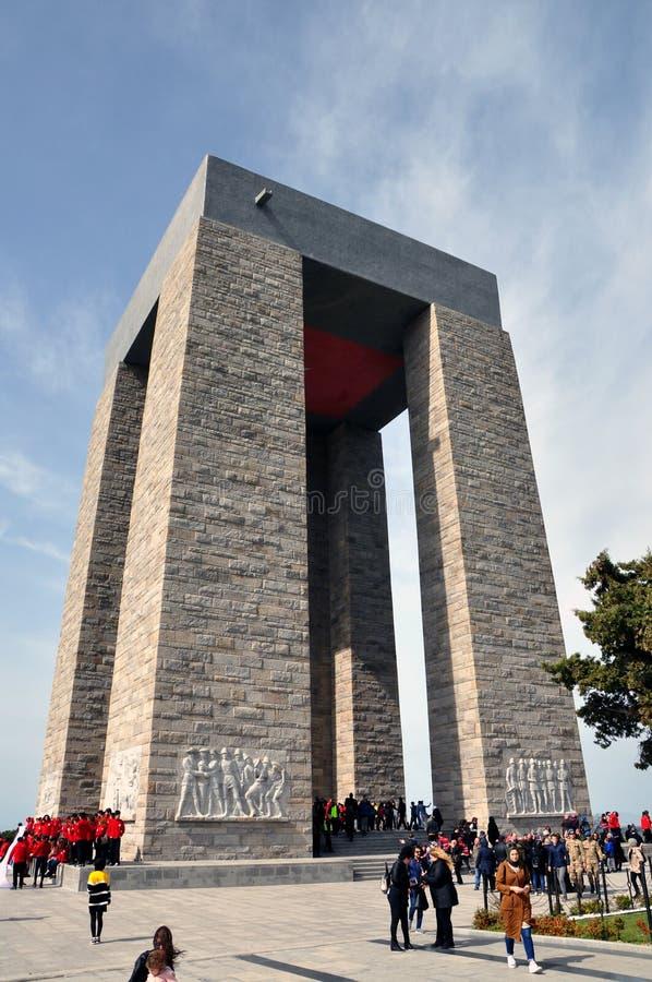 Monument de Canakkale photographie stock libre de droits
