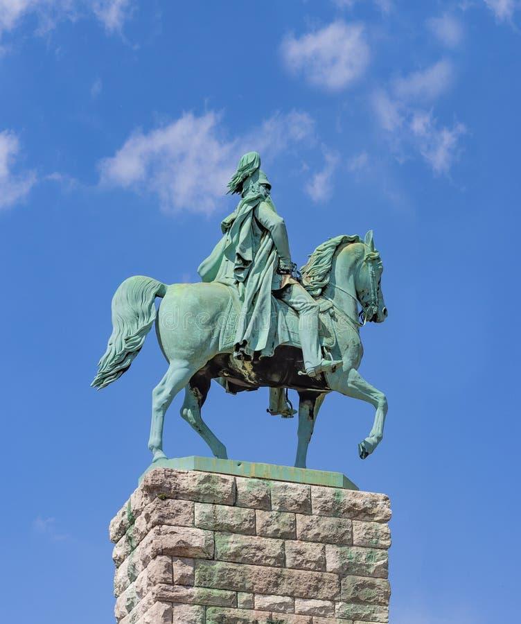 Monument de cavalier de Kaiser Wilhelm I image libre de droits