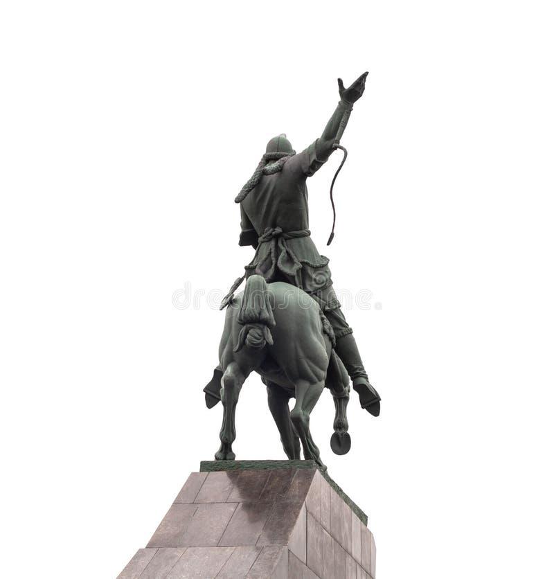 Monument de cheval d'équitation de Salavat Yulaev images libres de droits