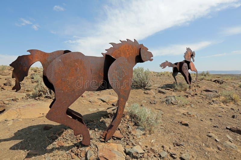 Monument de chevaux sauvages photos stock