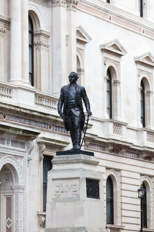 Monument de Clive image libre de droits