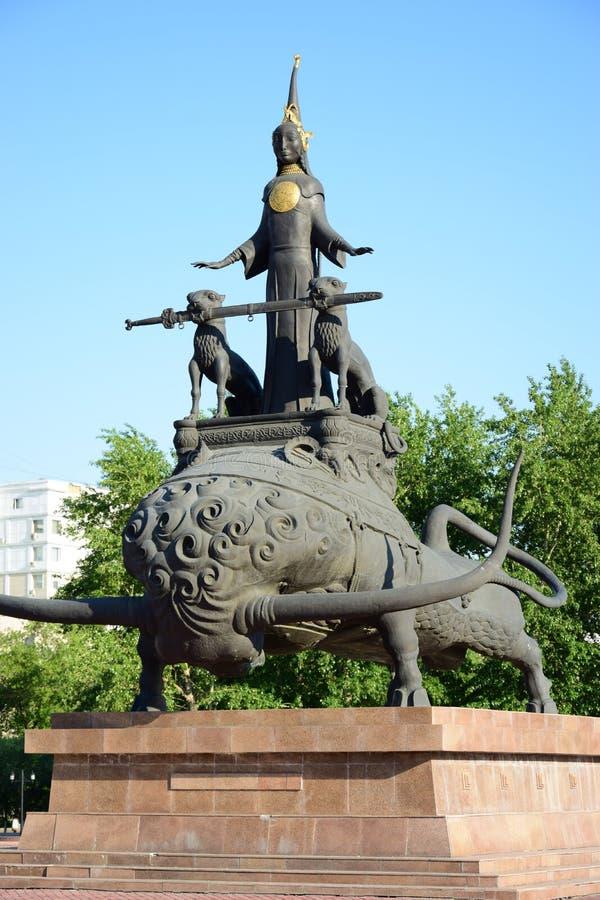 Monument de conception originale à Astana, Kazakhstan image stock
