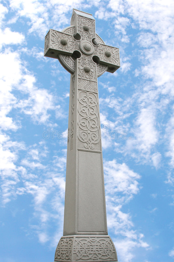 Monument de croix celtique images libres de droits