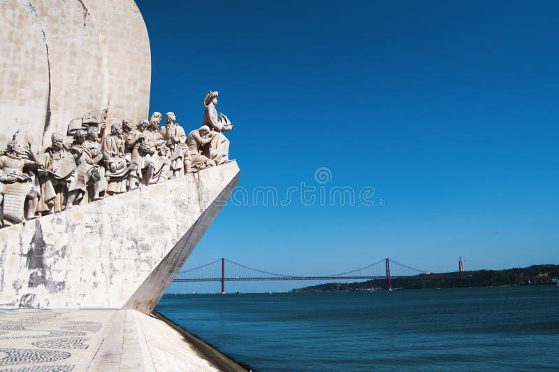 Monument de découvertes de mer images libres de droits
