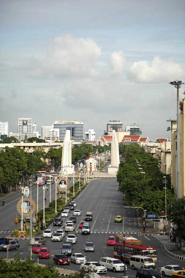 Monument de démocratie à Bangkok, Thaïlande image libre de droits