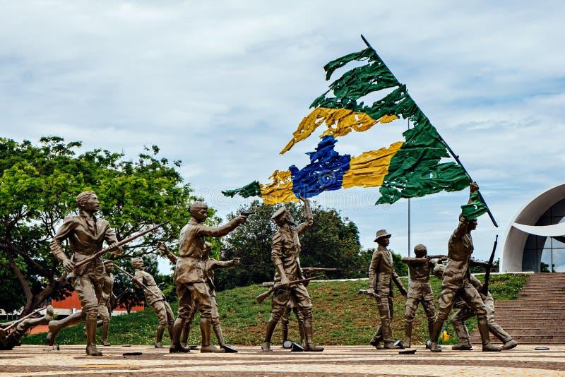 Monument de 18 faire le forte et le Coluna Prestes images libres de droits