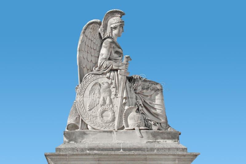 Monument de femme, France, Paris, guerrier s'asseyant image stock