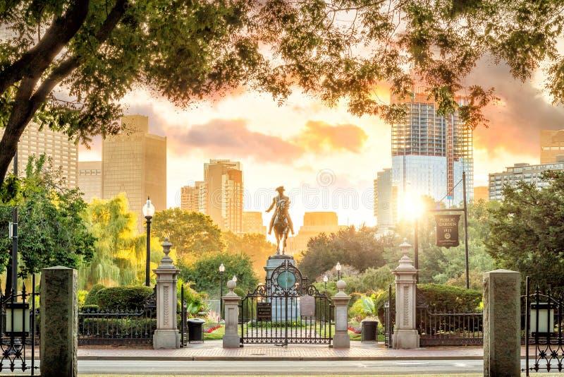 Monument de George Washington dans le jardin public Boston le Massachusetts photos libres de droits