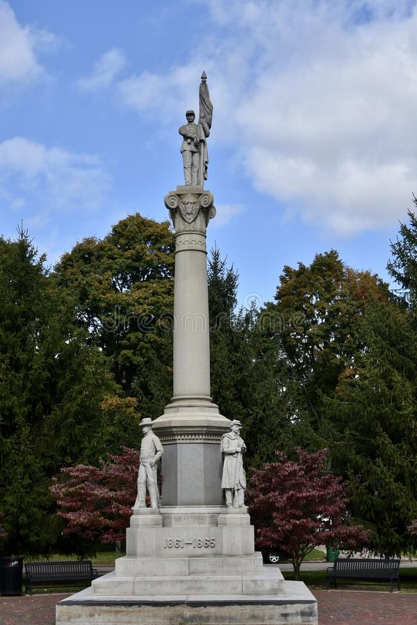 Monument de guerre civile de Dowagiac images stock