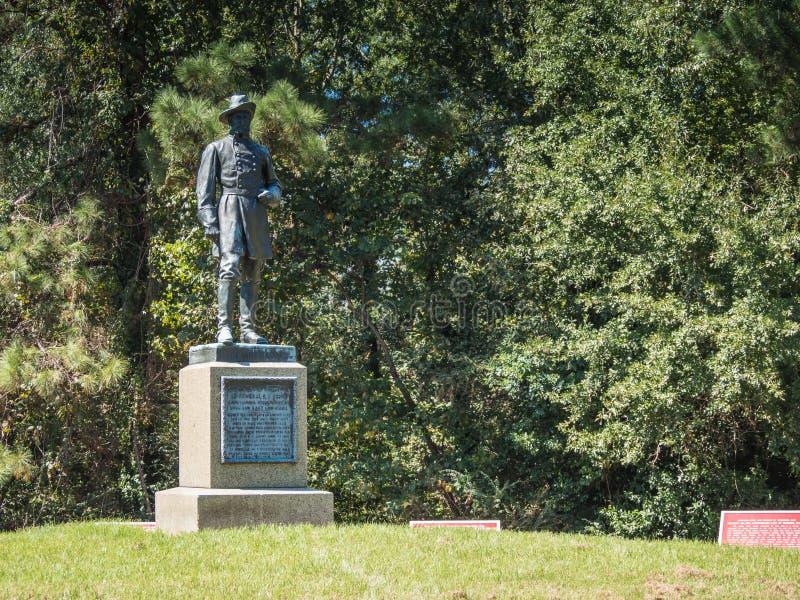 Monument de guerre civile de John C Pemberton image libre de droits