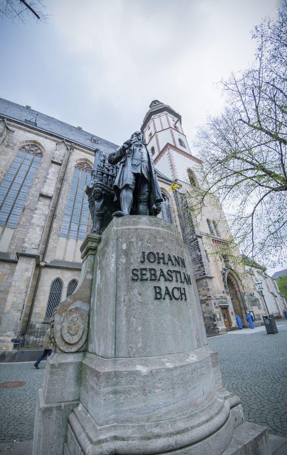 Monument de Johann Sebastian Bach à Leipzig photos libres de droits