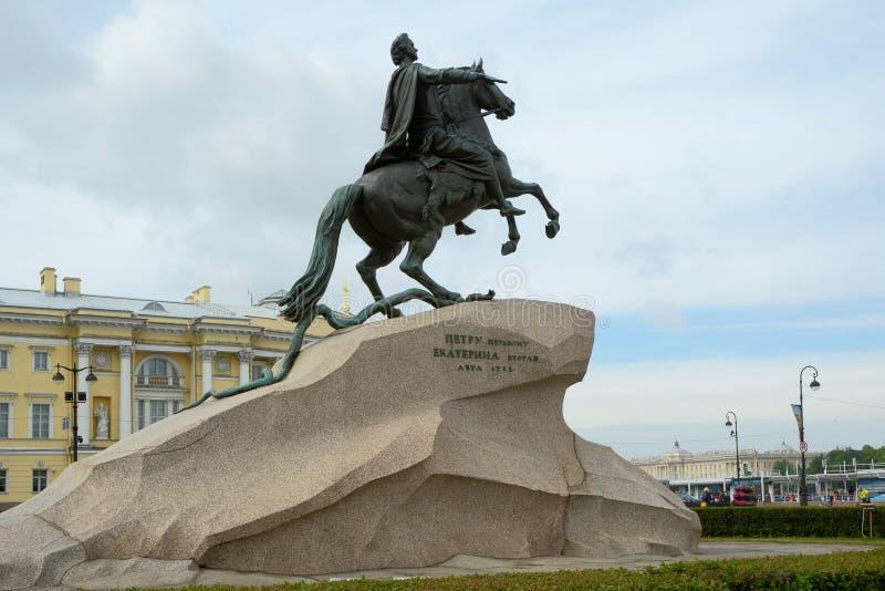 Monument de l'empereur russe Peter le grand photos stock