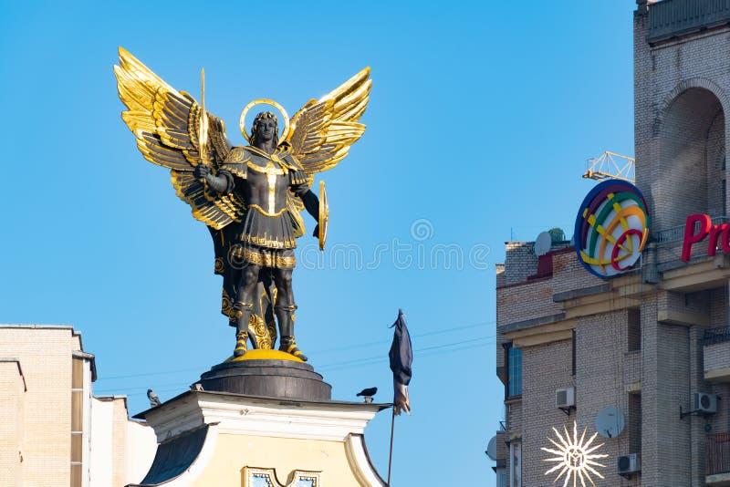 Monument de l'indépendance de l'Ukraine à Kiev Vues historiques de l'Ukraine photos stock