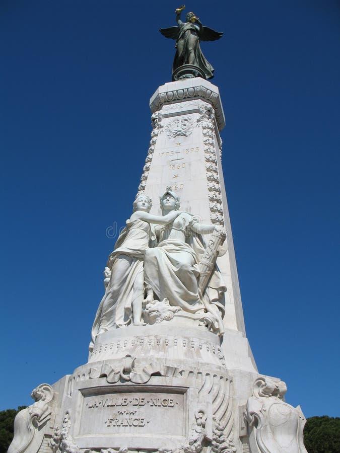Monument de la Côte d'Azur dans le NIC images stock