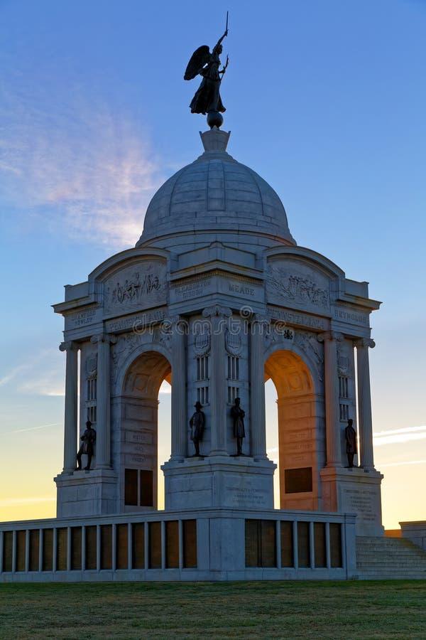 Monument de la Pennsylvanie au lever de soleil photos libres de droits