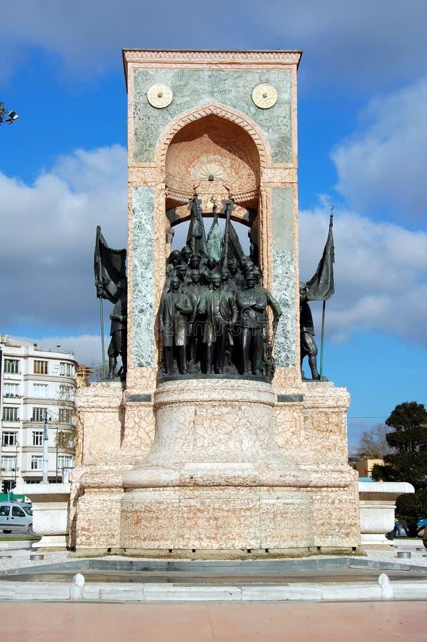 Monument de la République à Istanbul image stock