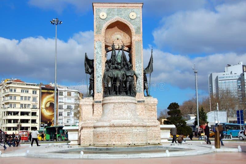 Monument de la République à Istanbul images libres de droits