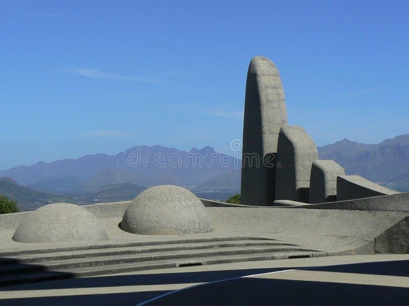MONUMENT DE LANGUE D'AFRIKAANS, PAARL, AFRIQUE DU SUD image stock