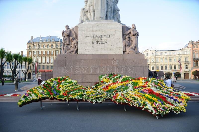 Monument de liberté à Riga photos stock