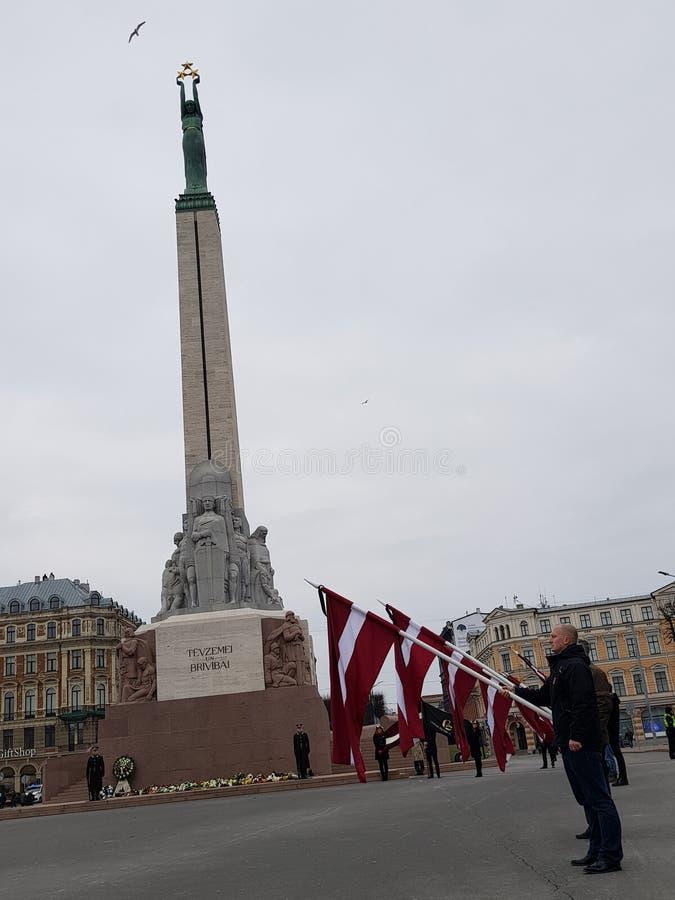Monument de liberté en Lettonie photo libre de droits