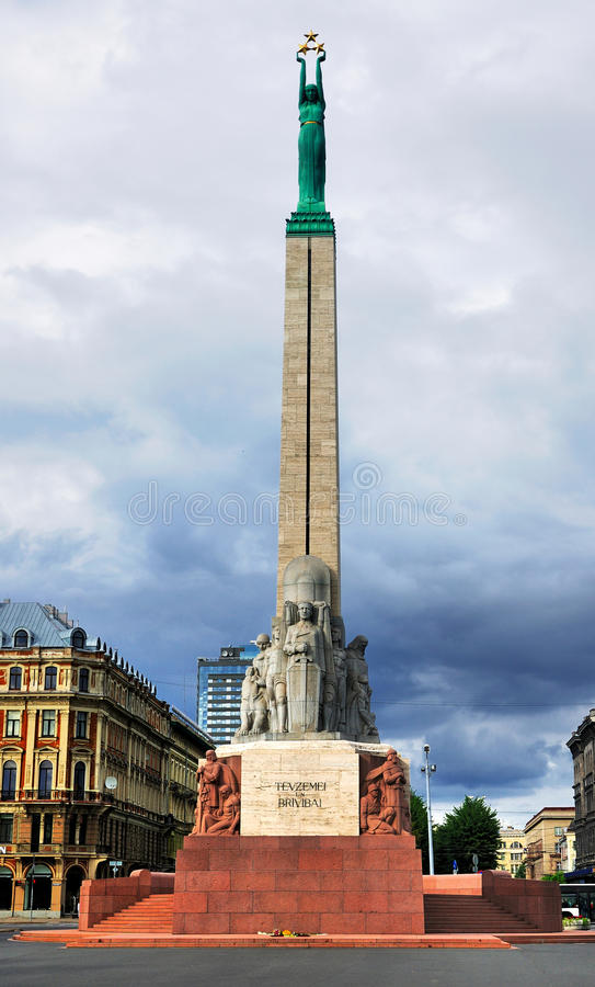 Monument de liberté, Riga photographie stock