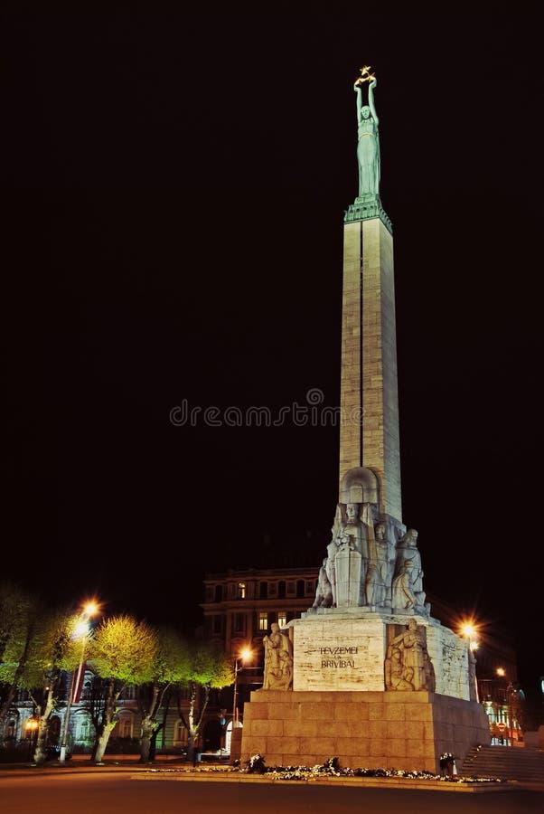 Monument de liberté ; Riga ; Lettonie image libre de droits