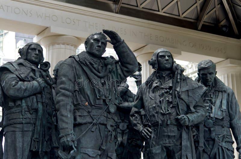 Monument de Londres aux pilotes de bombardier photographie stock