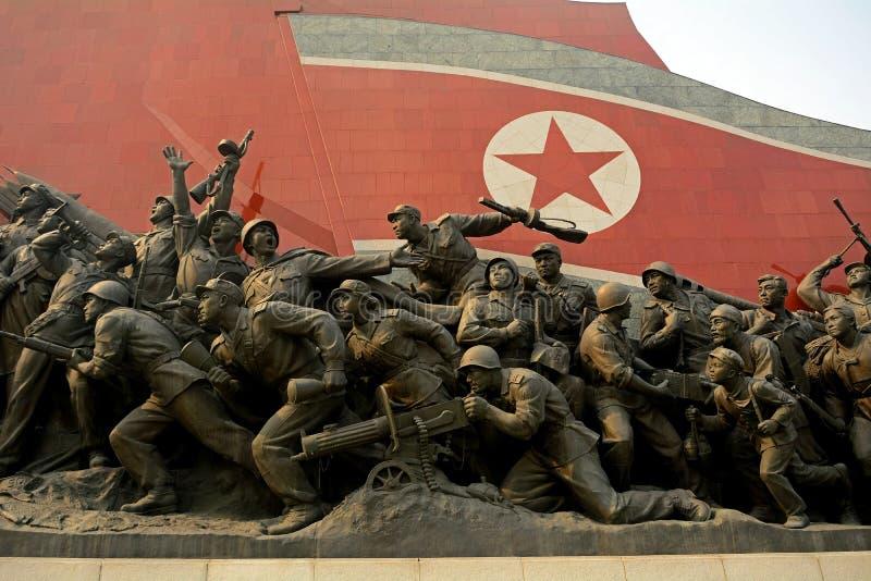 Monument de Mansudae, Pyong Yang, Nord-Corée image stock